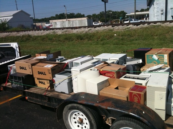Image of A Recent Donated Computer Shipment