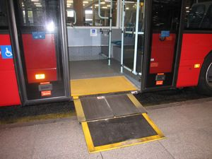 wheelchair accessible public transportation