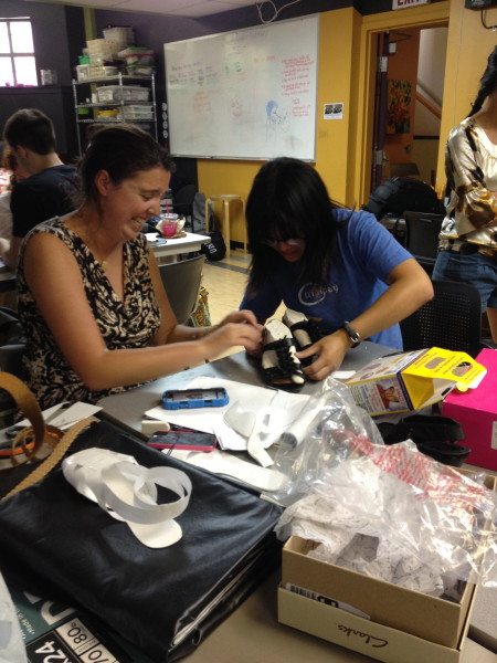 Open Style Lab students learn and have fun creating their clothing product