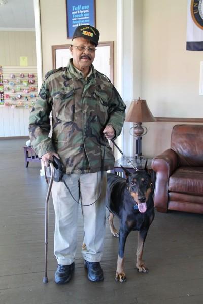 Saving Grace K9's veteran training with service dog