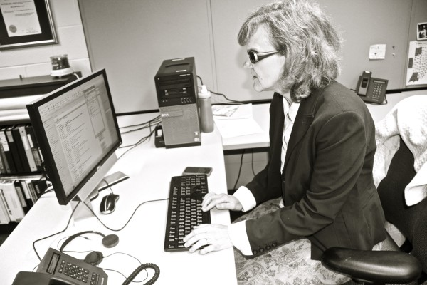 barbara at her desk
