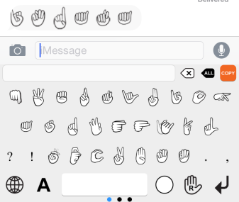 Signily: iOS keyboard allows you to communicate in sign language - Assistive Technology at Easter Seals Crossroads