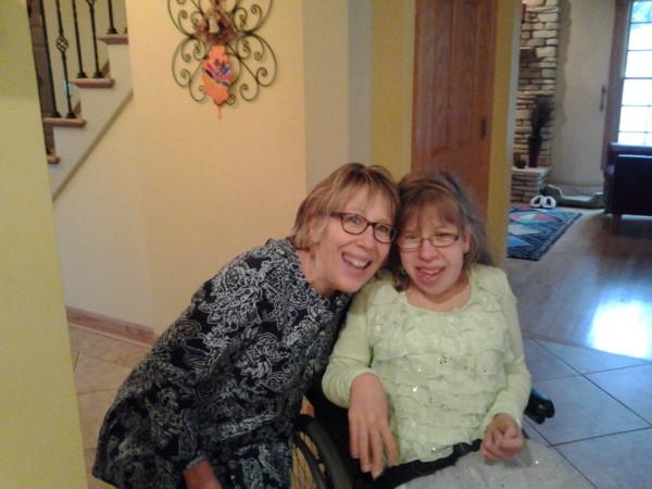 Kathy and Sarah