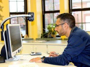 George Azar using CCTV