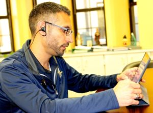 George Azar using iPad Pro
