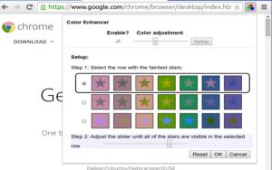 color enhancer google chrome extension