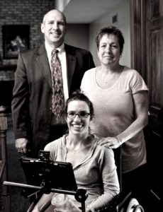ashley with her parents