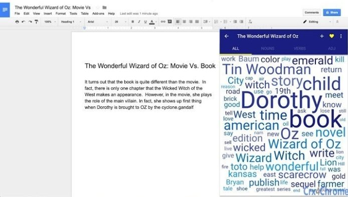 Word Bank Universal Google EXtension