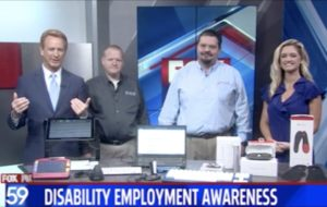 Fox 59 Interview - Disability Employment Awareness Month