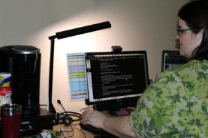 computer lighting on krystyls's desk