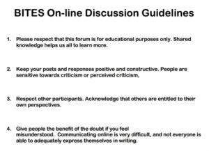 BITES Discussion Forum Guidelines document