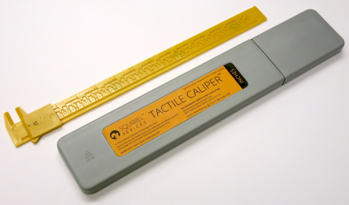 Tactile caliper