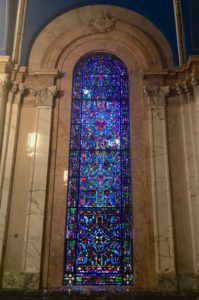 Stained glass at Blessed Sacrament Capel