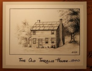 Sketch of the old thralls house-1840