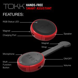 tokk smart bluetooth wearable assistant