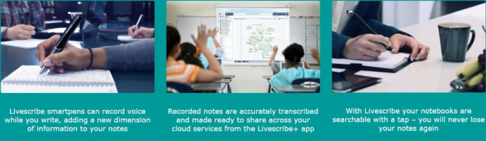 Livescribe screen shots