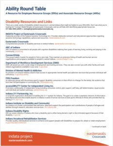 Ability Round Table Disability Resources and Links