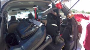 Lift in Stacey's van