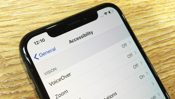 Accessibility in iOS 12