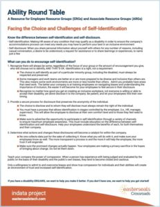 Ability Round Table Resource - The Choice and Challenges of self-Identification doc image