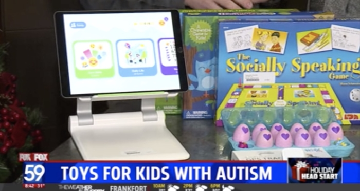 WTHR 13 - Toys for kids with autism interview image