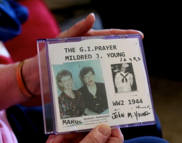 Mildred's cd of her song the G.I. Prayer