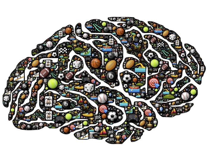 Image of brain with game icons