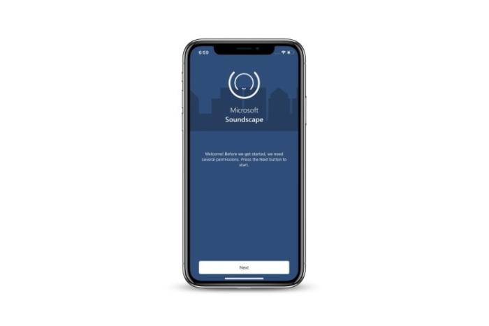 Screenshot of Soundscape app