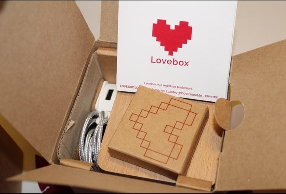Lovebox gift in packaging box