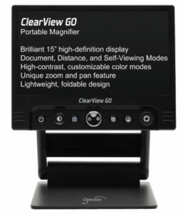 optelec's clearview go video magnifier