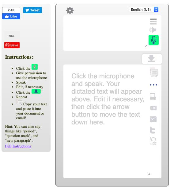 talktyper online dictation tool