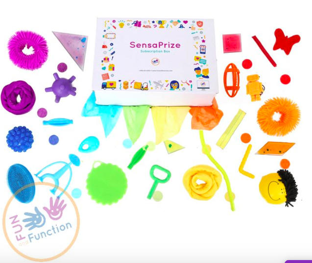 sensaprize subscription box by fun and function