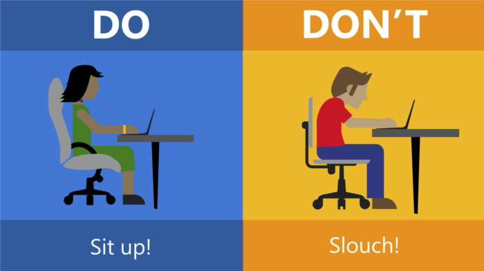 Don't slouch ergonomics graphic