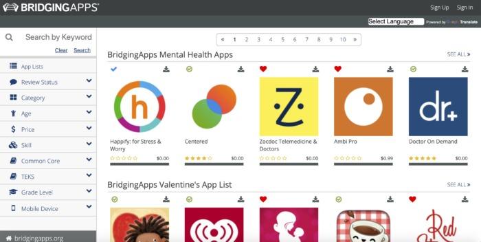 Bridging Apps Screenshot