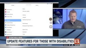 WTHR 13 - New iOS 13 Accessibility Features Interview