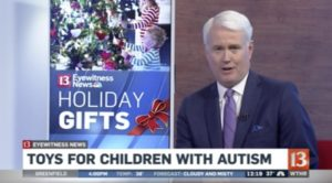 WTHR 13 - Toys for Children with Autism Interview