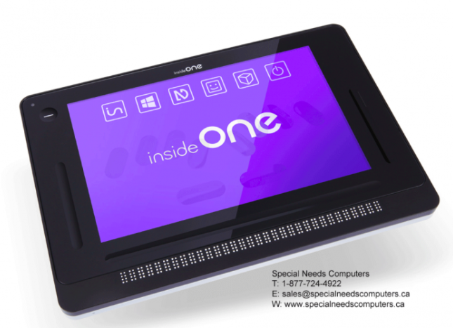 insideONE tablet for blind individuals