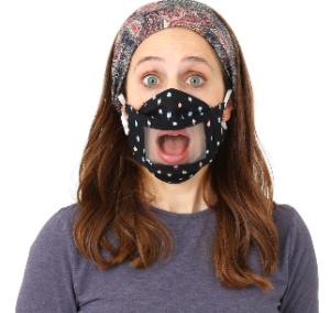 the social mask in black
