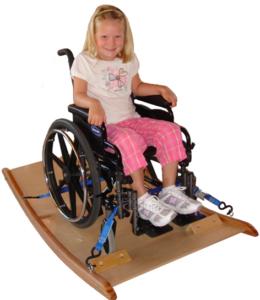 TherAdapt's wheelchair platform rocker for child