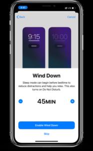 iOS 14 wind down app