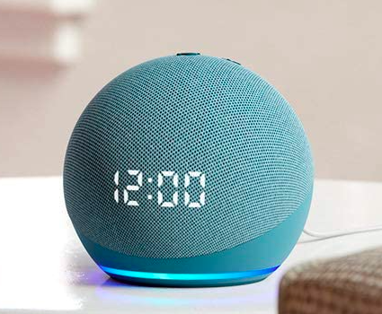 amazon echo dot with clock new blue