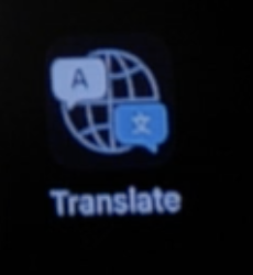 Screen shot of Translate app icon