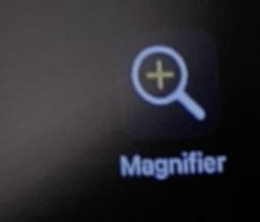 Screen shot of Magnifier app logo