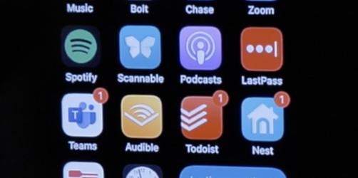 Screen shot of Home Screen on iPhone