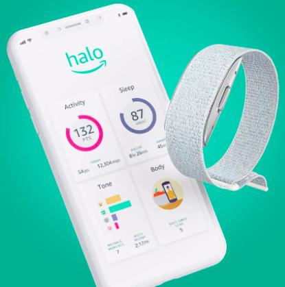 amazon halo band and smartphone