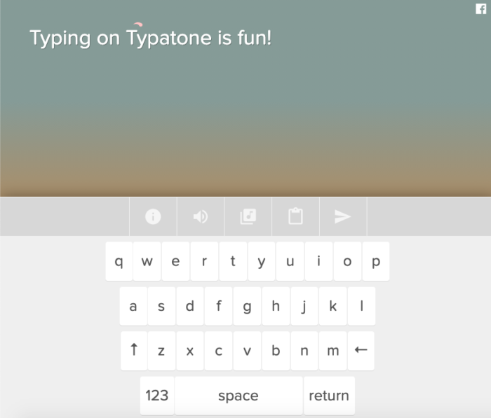 Typatone website example