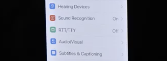 Screen shot of Sound Recognition setting