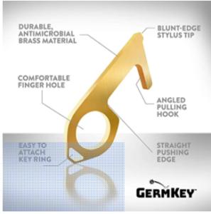 germkey touchfree brass hand tool