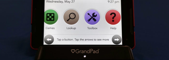 GrandPad tablet