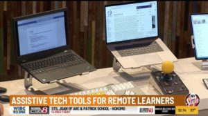 WISHTV 8 - Tools and Supports for Remote Learners interview image